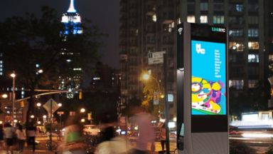 PHOTO: LinkNYC will begin network construction in 2015. In addition to being wi-fi hotspots, Links will also feature free phone calls within the US, a charging station for mobile devices and easy access to 911 and 311.