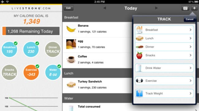 PHOTO: MyPlate for the iPad tracks calories and food intake.