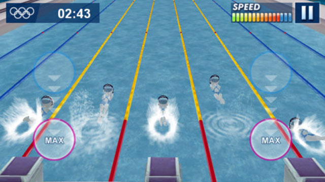 PHOTO: The London 2012 Official Mobile Game app has nine games in one.