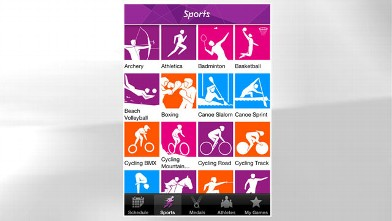 PHOTO: The London 2012 Results is available for iPhone and Android; it displays the latest results.