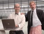 "PHOTO: A new YouTube video ""How To Uninstall McAfee Antivirus,"" features John McAfee himself, June 18, 2013."