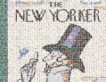 PHOTO: Flickr user Mecredis created this Eustace Tilley cover using Emoji icons for the annual New Yorker contest.