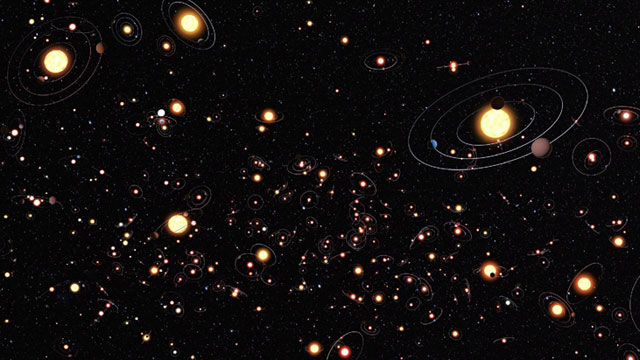 PHOTO: This artists illustration gives an impression of how common planets are around the stars in the Milky Way.