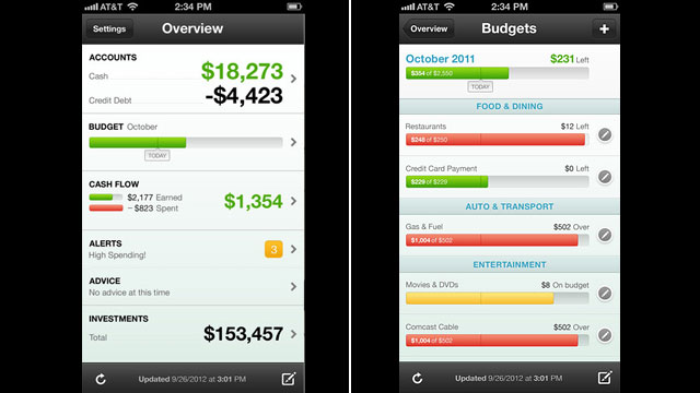 PHOTO: Mint's apps allow you to manage your budget on the go.
