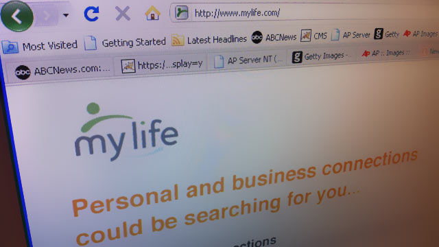 "PHOTO: MyLife social-networking site is being sued for allegedly telling people ""someone"" is searching for them."