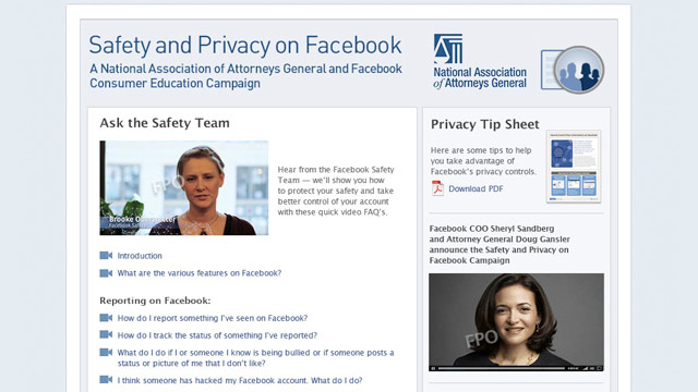 Facebook, Attorneys General Team Up