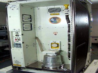 PHOTO One of the International Space Station's two toilets, like the one pictured here, is malfunctioning.