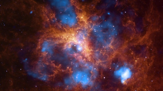 PHOTO: The star-forming region, 30 Doradus, is one of the largest located close to the Milky Way and is found in the neighboring galaxy, Large Magellanic Cloud.
