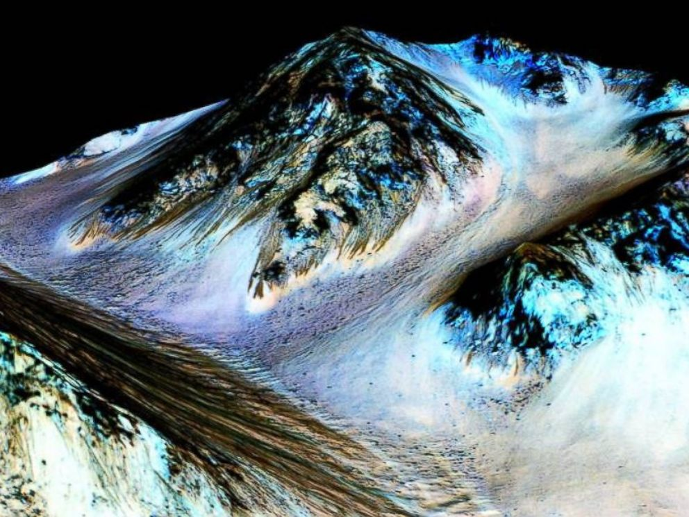 PHOTO: NASA confirmed there is water on Mars.