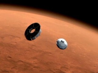 Mars Rover Comes in for Landing