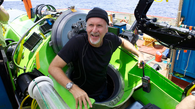 PHOTO: The DEEPSEA CHALLENGER submersible is the centerpiece of DEEPSEA CHALLENGE,