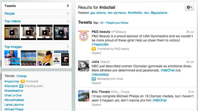 PHOTO: #NBCFail has been a trending topic on Twitter ever since the 2012 Olympics began on July 27, 2012.