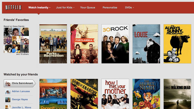 PHOTO: Netflix now integrates with Facebook.