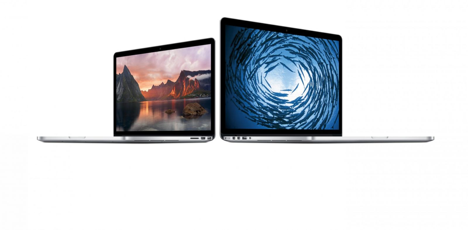 PHOTO: Apple showed off new Macbook laptops and software upgrades at todays event in San Francisco.