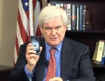 "PHOTO: Newt Gingrich talks about what we should call ""cellphones"" in a YouTube video."