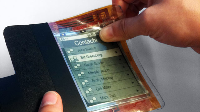 PHOTO: The next phase of smartphones could be as thin and light as a piece of paper.