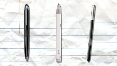 PHOTO: The Livescribe 3, Equil Jot and Galaxy S Pen.