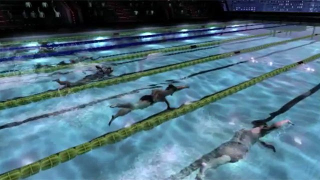 PHOTO: A screen grab from the Michael Phelps' swimming game for Xbox.