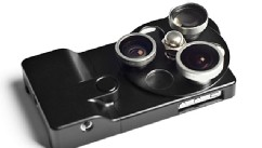 PHOTO: The PhotoJojo Lense Dial case has three lenses for the iPhone.