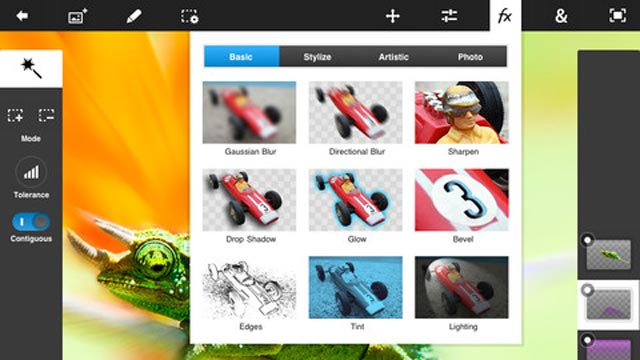 PHOTO: Adobe's Photoshop Touch for the iPad costs $9.99.