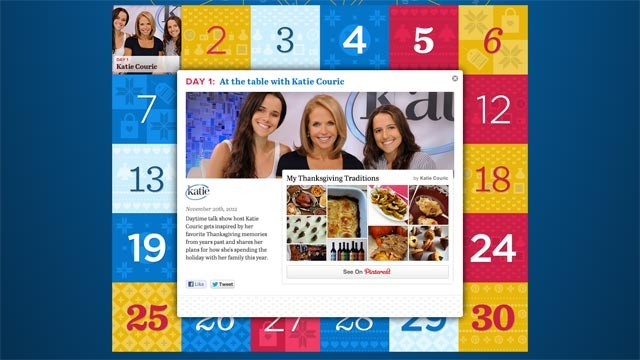 PHOTO: Pinterest's Pinspiration calendars centralizes new Pintererst boards from celebrities, non-profits, etc.