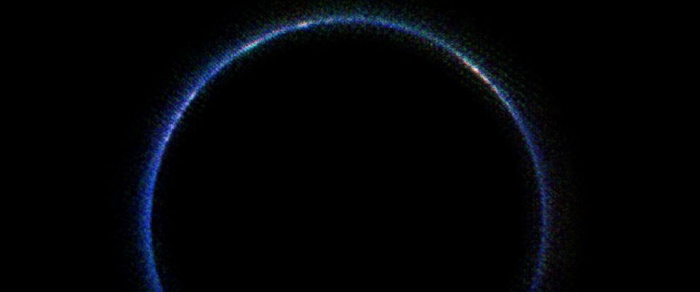 PHOTO: An image created by NASAs New Horizons spacecraft in 2015 and released on Jan. 29, 2016 shows Plutos atmosphere in infrared wavelengths.