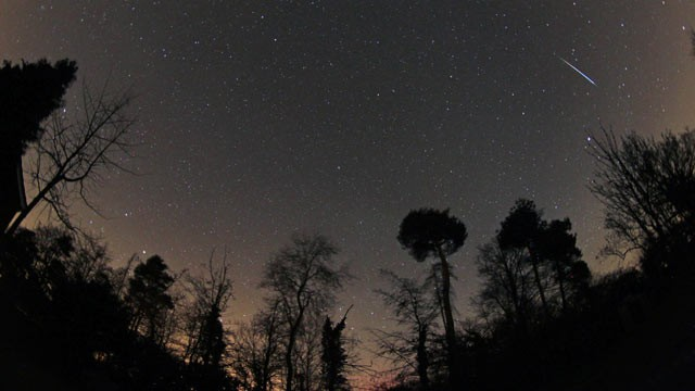 PHOTO: The Quadrantid meteor shower as captured by a photographer in Suffolk, England, is shown.