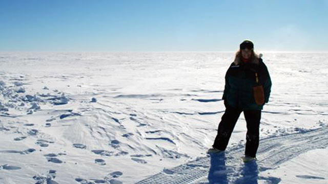 PHOTO: Renee-Nicole Douceur in Antarctica before she suffered an apparent stroke at the Amundsen-Scott South Pole Station in August.