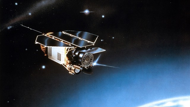PHOTO: Artist's impression of the ROSAT satellite in space