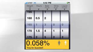 Photo: R U Buzzed? An iPhone App Will Tell You: Fee iPhone Application Calculates Blood Alcohol Level and Helps Call a Cab