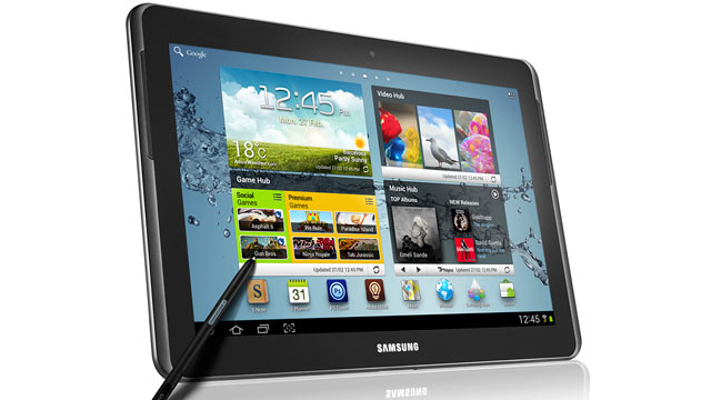 PHOTO: Samsung announced the launch of the Galaxy Note 10.1.