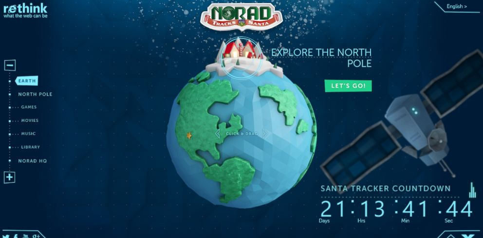 PHOTO: Microsoft has teamed up with NORAD to create the Santa Tracker website.