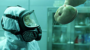 "Photo: Animal-Human Hybrids Banned in Some States: In the new movie ""Splice,"" a human-animal hybrid terrorizes people. In real life, scientists argue mixing human and animal cells could save lives."