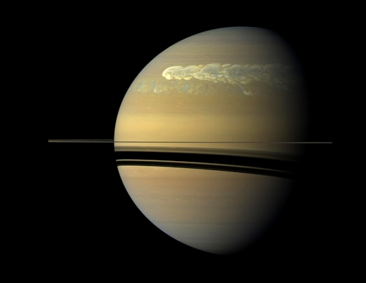 Giant Storm on Saturn