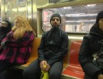 "PHOTO: Google co-founder Sergey Brin is seen in on the subway in this image posted on Twitter on Jan 21, 2013 by Noah Zerkin, who noted in his caption: ""Yeeeah... I just had a brief conversation with the most powerful man in the world. On the downtown 3 t"