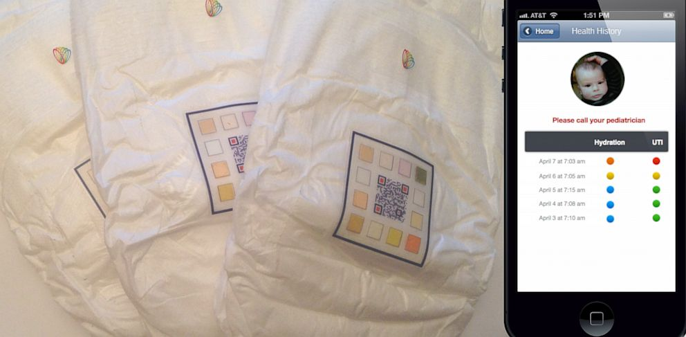 PHOTO: Smart Diapers collect medical information about a childs urine.