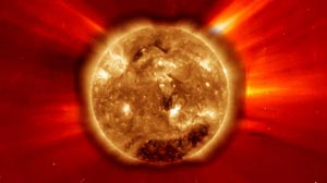 PHOTO SOLAR FLARE VALENTINES DAY