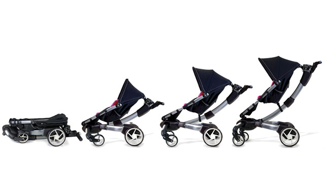 PHOTO: The 4Moms Origami is the most high-tech stroller ever made with power-folding