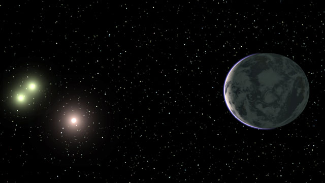 PHOTO: Artists conception of the planet GJ667Cc, believed to be a super-Earth capable of having liquid water.