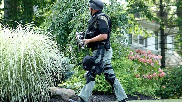 PHOTO: On July 23, the Bergen County Police Department SWAT team responded to a male caller who reported a hostage situation at a household in Wyckoff, New Jersey. <a href=