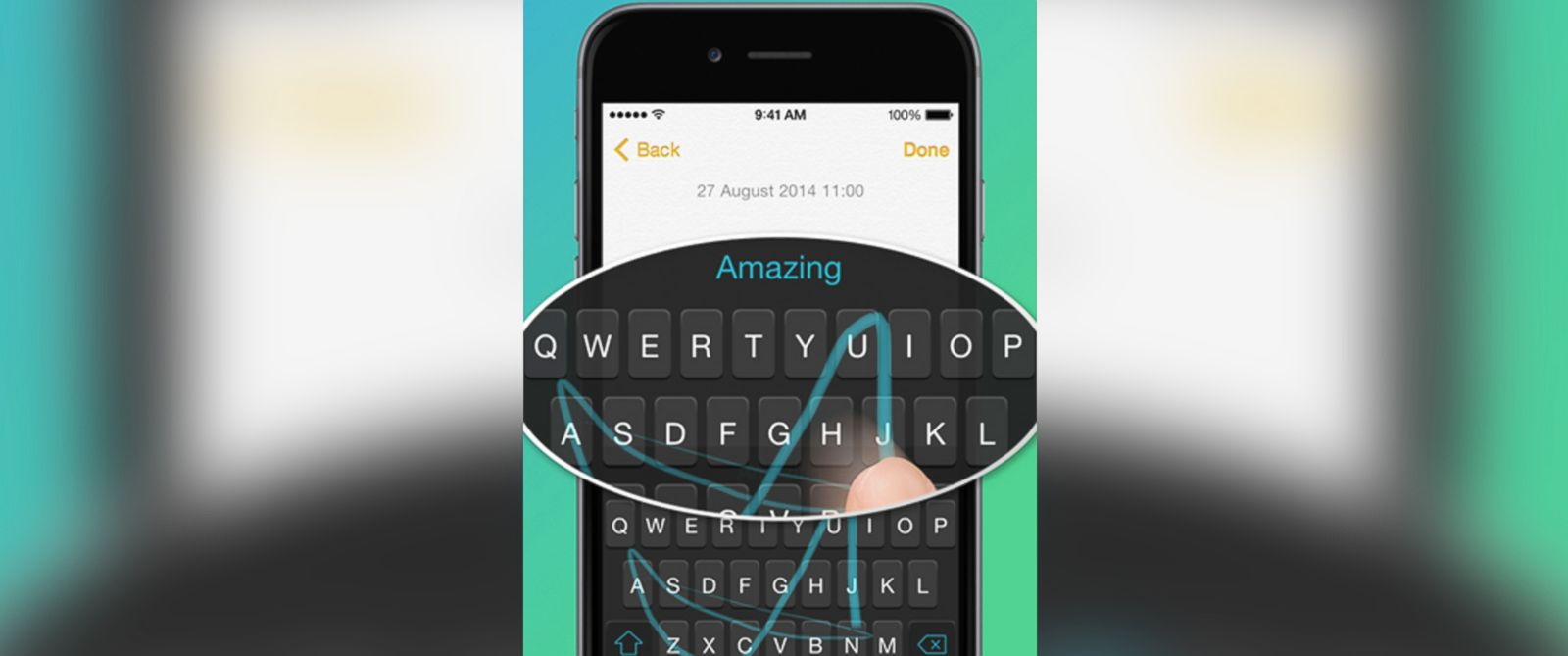 PHOTO: An image from the iPhone version of SwiftKey.