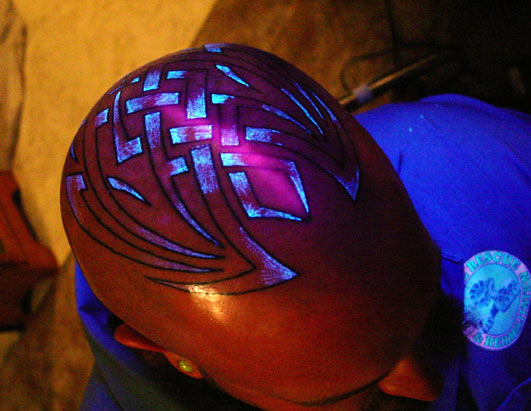 The ink for black light tattoos has been around for about 11 years,