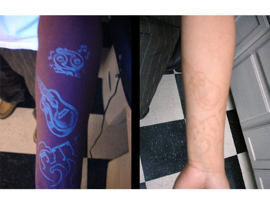 About UV Tattoo Ink Richie has been using black light tattoos for almost