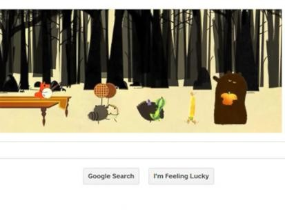 Google Doodle Celebrates Thanksgiving