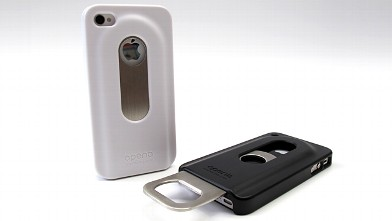 PHOTO: The Opena is an iPhone cover with a slideout bottle cap opener.