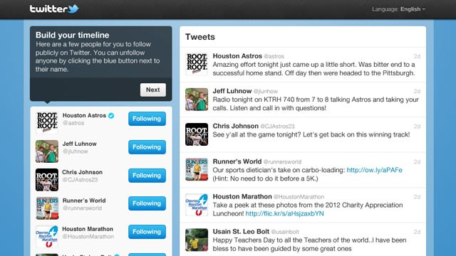 PHOTO: Twitter's new timeline follow tool has launched.