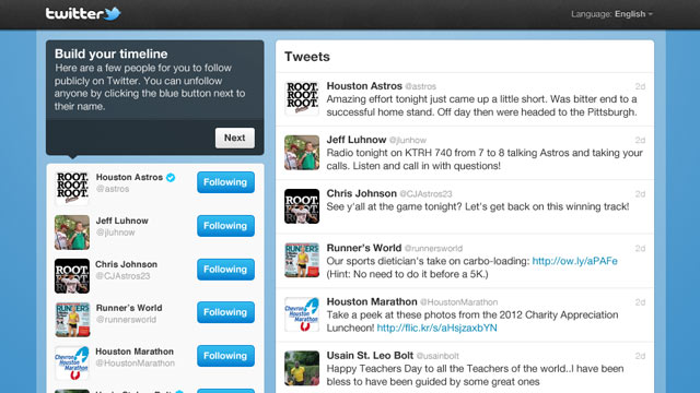 PHOTO: Twitters new timeline follow tool has launched.