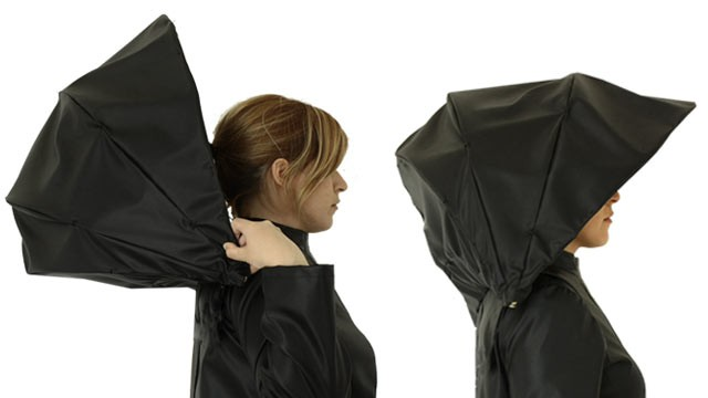 PHOTO: The Umbrella Coat Raincoat by Greek designer Athanasia Leivaditou -- combines an umbrella and raincoat in one item.