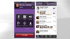 PHOTO: Viber's latest update lets users make voice calls and send text messages for free on mobile devices as well as Windows and Mac desktops.