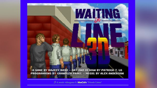 ht waiting in line game kb 131129 16x9 608 The Most Boring Game Ever? 3 D Line Waiting Game Is Surprise Hit
